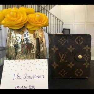 Authentic Louis Vuitton Compact Zip Wallet